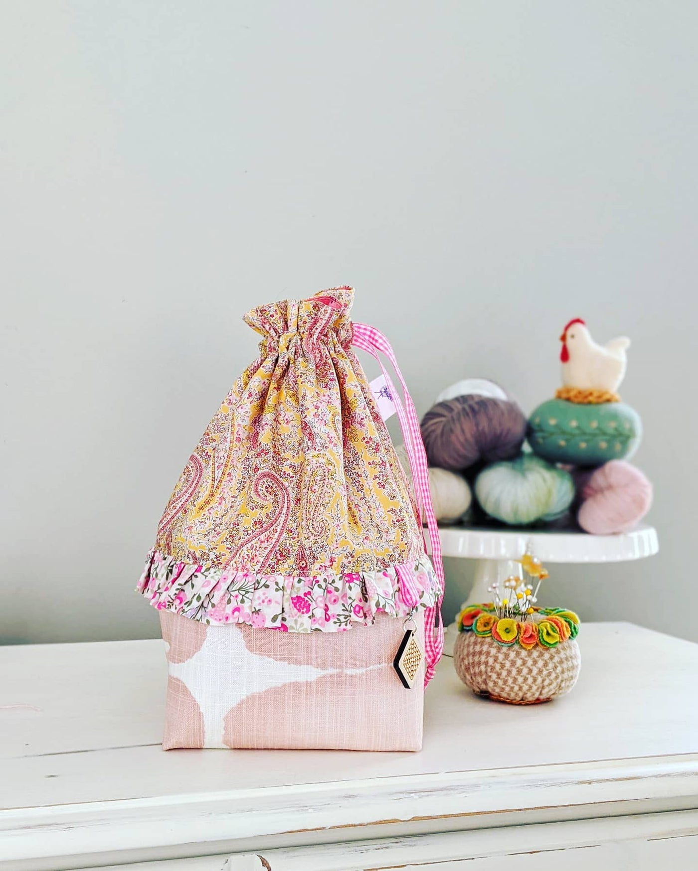 Ditty Bag in a Tutu Pink Paisley