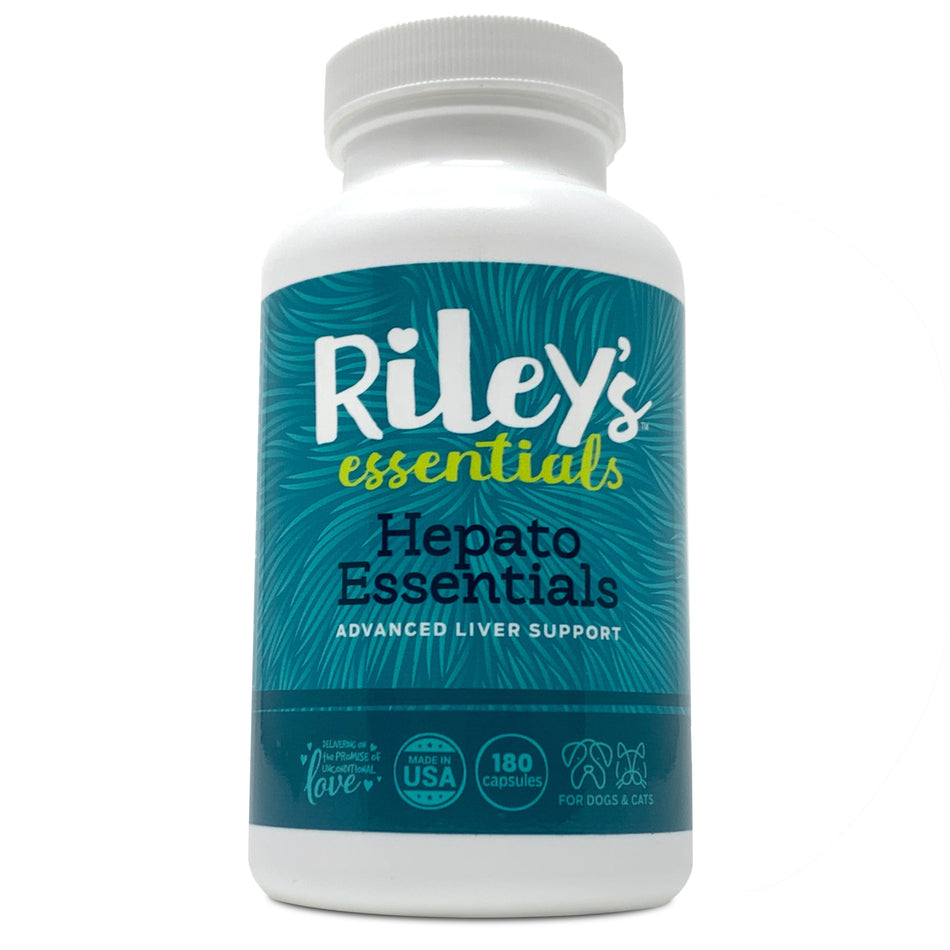 Riley's Essentials Hepato Liver Support with Milk Thistle for Dogs and Cats - 180 Capsules