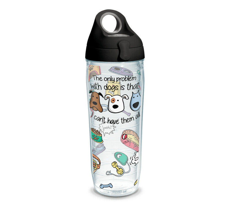 The only problem with dogs is that I can't have them all - 16 oz. Tumbler with black lid
