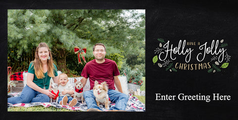 Package of 12 Holiday Greeting Card Options (Must Purchase a Holiday Session Package First)