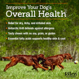 Riley's Essentials Omega Complete Skin and Coat Supplement for Dogs - 60 Count