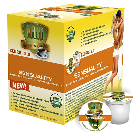 Libido Boost Organic Green Tea Pods For Keurig