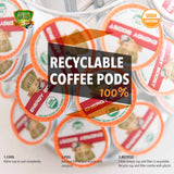 Sollo Medium Roast Energy Boost Organic Coffee Pods For Keurig