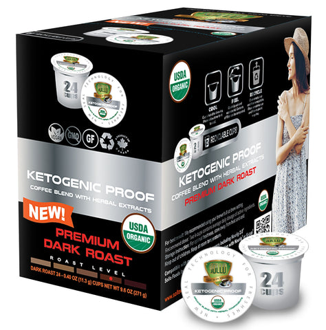 Sollo Dark Roast Ketogenic Proof Coffee Pods For Keurig, 24 Count