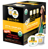 Sollo Dark Roast Vitta Complex Infused Coffee Pods For Keurig