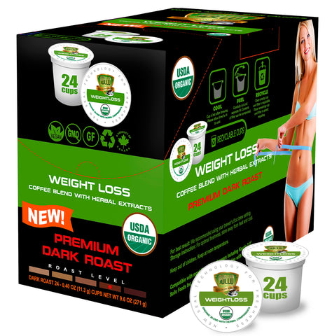 Dark Roast Weight Loss Coffee For Keurig, 24 Count