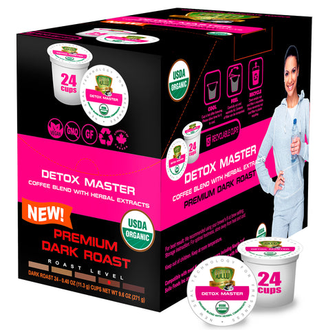 Dark Roast Detox Organic Coffee Pods For Keurig