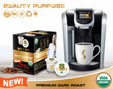 Sollo Dark Roast Beauty Purpose Infused Coffee Pods For Keurig