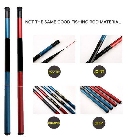 Heavy Duty Carbon Fiber Portable Telescopic Fishing Rod