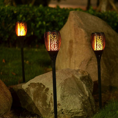 Image of Outdoor Solar Flame Light Torch