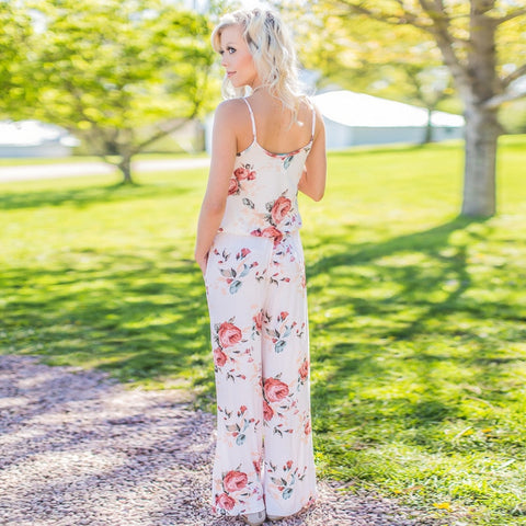 Image of Super Comfy Floral Jumpsuit