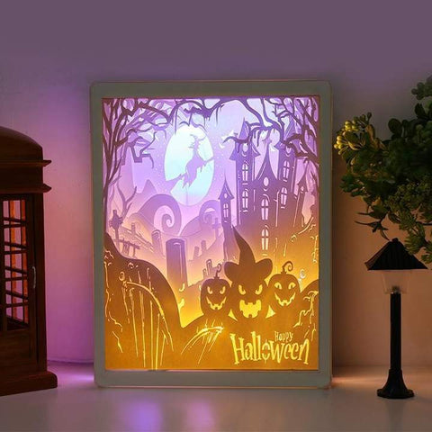 3D Light and Shadow Night Lamp Paper Carving Art