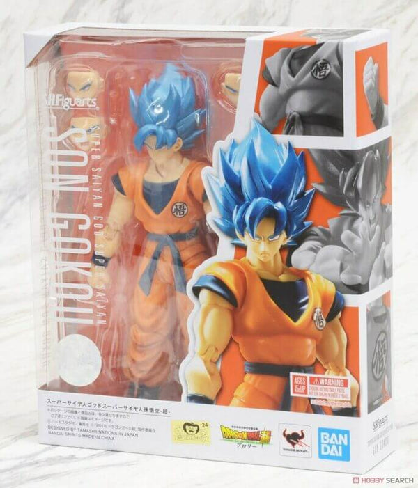 Son Goku Super Sayan God Blu Action Figure SHFiguarts Bandai Tamashii Dragon Ball Super 18cm (4259868082273)
