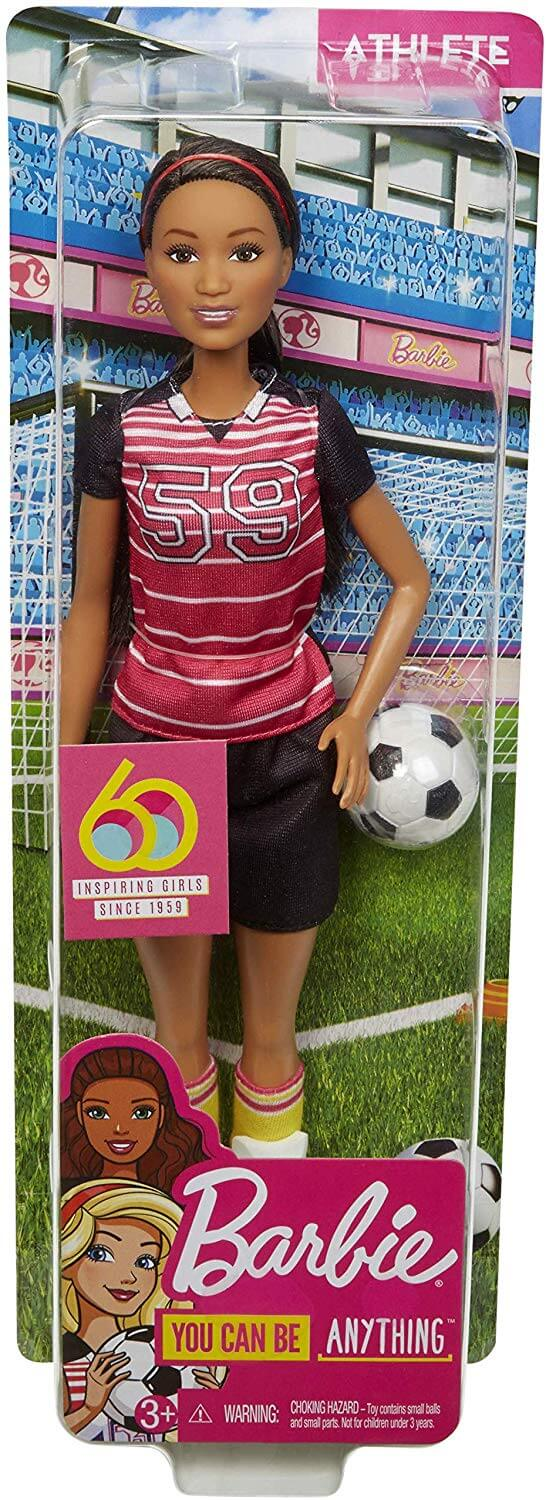 Barbie Calciatrice Fashion Doll Bambole 27cm Carriere Iconiche Mattel GFX23 (4294934724705)