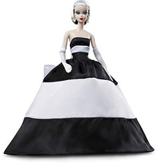 Barbie Collector Black And White Forever Satin Gold Label  BFMC 60 Anniversario Mattel FXF25 Bambola Collezione (3948467781729)