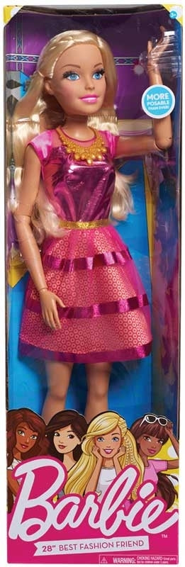 Barbie Bambola Gigante 70cm Best Fashion Friend Doll Mattel (3948386386017)