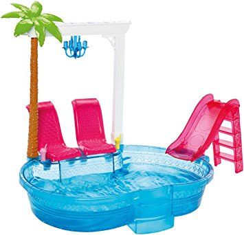 BARBIE GLAM POOL PISCINA PLAYSET MATTEL DGW22 (3948251840609)