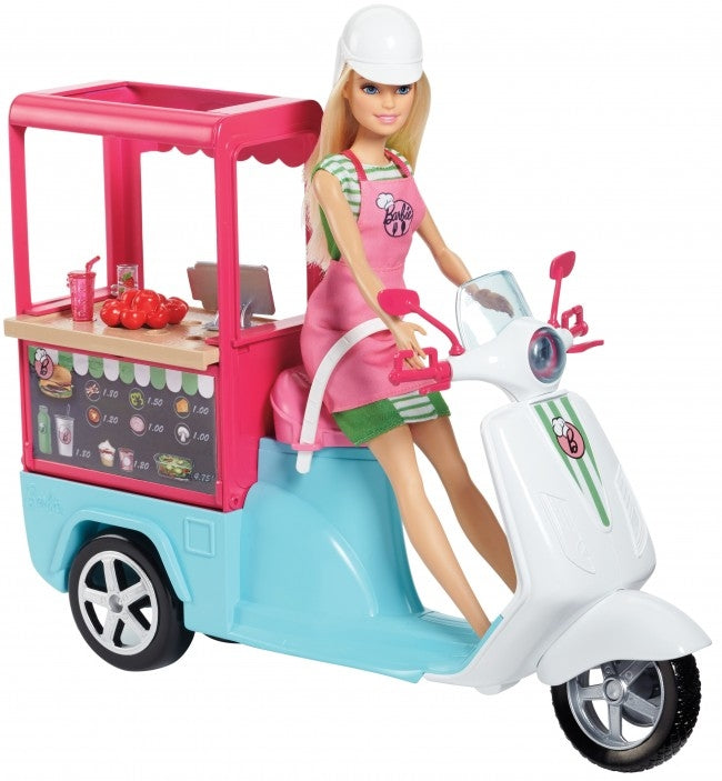 BARBIE  SCOOTER BISTRO VEICOLO STREET FOOD MATTEL FHR08 (3948306923617)