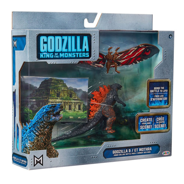 Godzilla il Re dei Mostri Action Figures Pack 2 Personaggi 9cm (3948062998625)