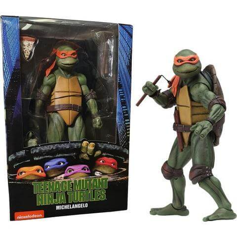 Action Figure TMNT Nnja Turtles NECA 1990 Michelangelo 54074 #Personaggio_Michelangelo 54074 (4112564519009)