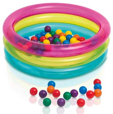 PISCINA BABY 3 ANELLI CON PALLINE COLORATE INTEX 48674 (3948110544993)