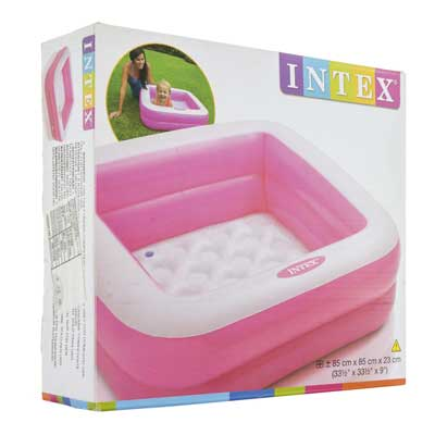 PISCINA BABY QUADRATA INTEX 57100-Rosa (3948110807137)