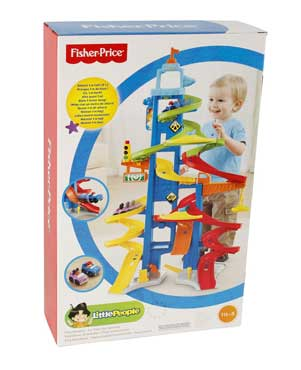 FISHER PRICE BGC34 PISTA GRATTACIELO  PISTA AUTO LITTLE PEOPLE (3948090490977)