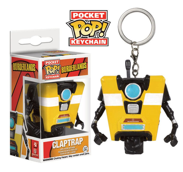 Claptrap Borderlands Pocket POP Portachiavi 4 cm (3948476203105)