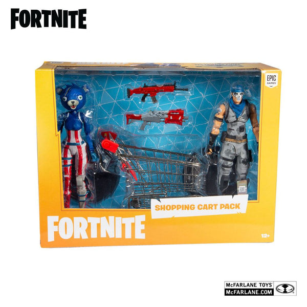 Fortnite Action Figures Shopping Cart Pack War Paint e Fireworks Team Leader 18 cm