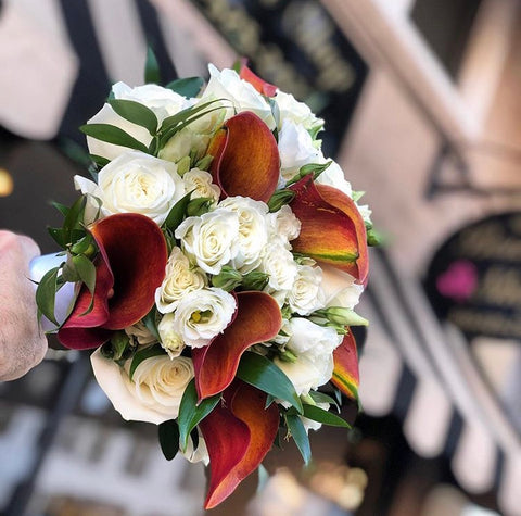Burnt Orange & White Bouquet