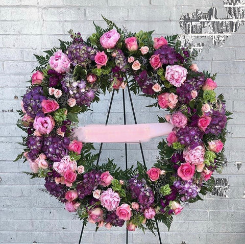 Pop of Pink Wreath