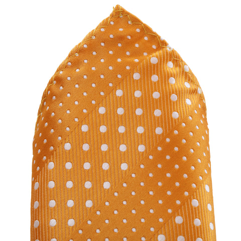 Crush - Orange Handkerchief with Dotted Stripe