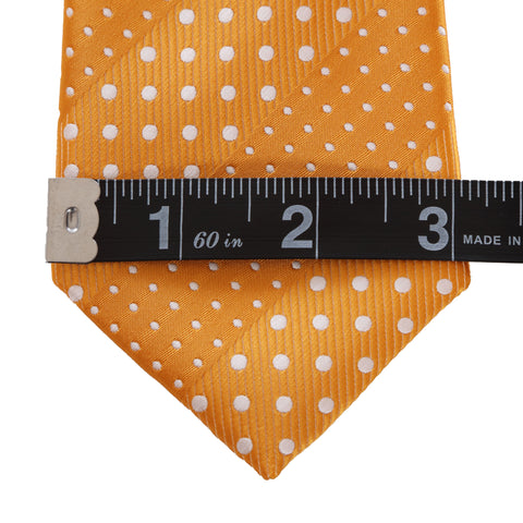 Crush - Orange Zipper Tie with Dotted Stripes