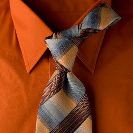 Express - Blue and Orange Necktie