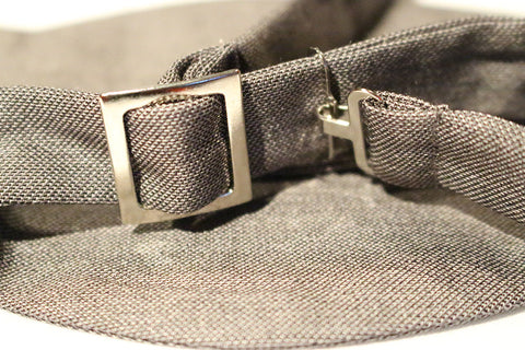 Light Grey Jean Bow Tie