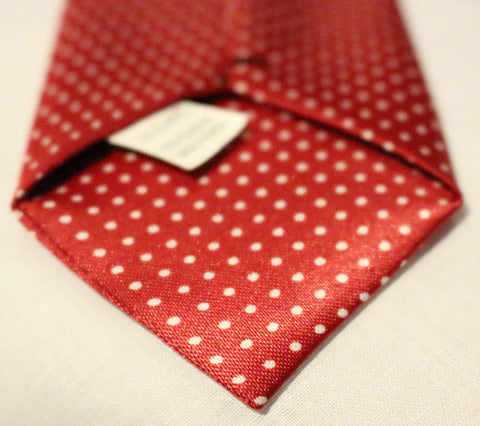 Red Dotted Kids Zipper Tie with Small White Dots