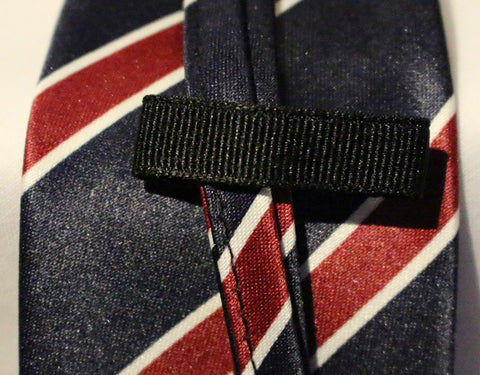 Blue Striped Kids Zipper Tie with Red Stripes