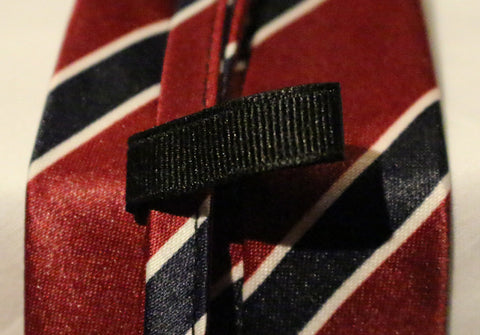 Red Striped Kids Zipper Tie with Blue Stripes