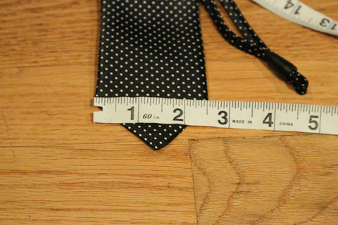 Black Dotted Kids Zipper Tie with Small White Dots