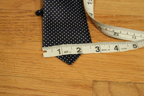 Blue Dotted Kids Zipper Tie with Small White Dots
