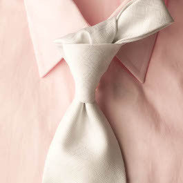 White Out - Solid White Necktie