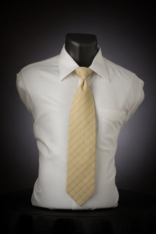 Tan Window - Tan Necktie with Window Design