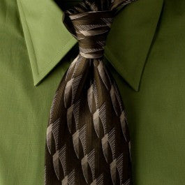 Green Trek - Green and Tan Necktie