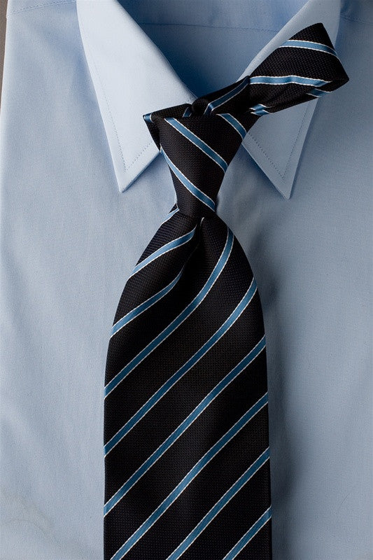 4bb2991e26e2 Ocean Slice - Dark Blue Necktie with Light Blue Stripes | MyNIceTie
