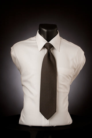 Charcoal Mix - Black Necktie with Dotted Pattern