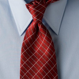 Holiday Bliss - Red Necktie with Window Pattern