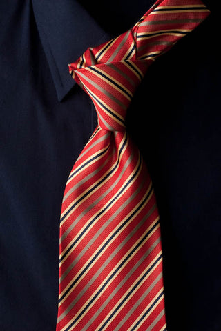 Summer Day - Red Striped Necktie