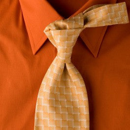 Solar Water - Yellow Necktie with Square Design