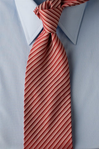 Red Cake - Red Striped Necktie with Pink Stripes