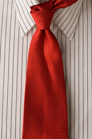 Red Weave - Red Necktie with Weave